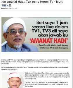 Masih ada lagi mufti di Malaysia yang berani - Siapa ?